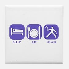 Sleep Eat Squash Tile Coaster