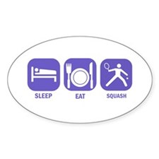 Sleep Eat Squash Decal