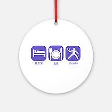 Sleep Eat Squash Ornament (Round)