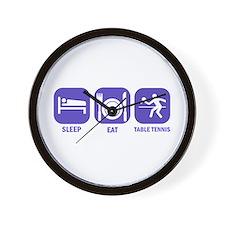 Sleep Eat Table tennis Wall Clock