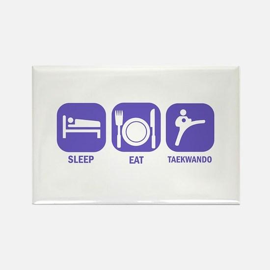 Sleep Eat Taekwando Rectangle Magnet