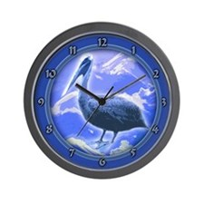 Cute Pelican boat Wall Clock