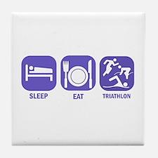 Sleep Eat Traithlon Tile Coaster