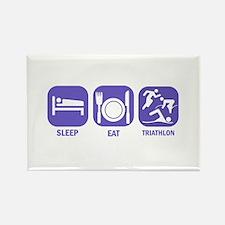 Sleep Eat Traithlon Rectangle Magnet (10 pack)
