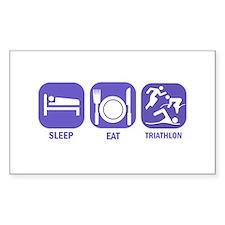 Sleep Eat Traithlon Decal