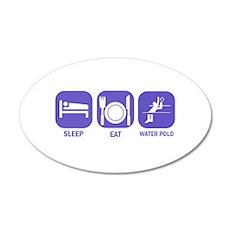 Sleep Eat Waterpolo 22x14 Oval Wall Peel