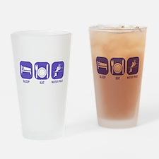 Sleep Eat Waterpolo Drinking Glass