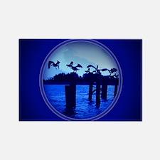 Cute Pelican boats Rectangle Magnet