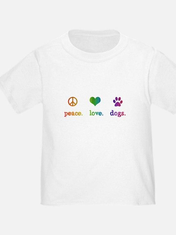 Cute Love dogs T