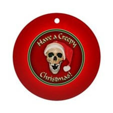 Cute Skull christmas Ornament (Round)