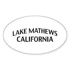 Lake Mathews California Decal
