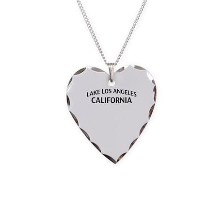 Lake Los Angeles California Necklace Heart Charm
