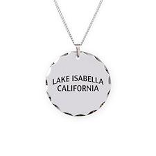 Lake Isabella California Necklace Circle Charm