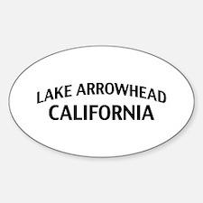 Lake Arrowhead California Sticker (Oval)