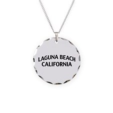 Laguna Beach California Necklace Circle Charm