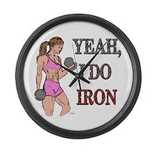 Fitness Godess Large Wall Clock