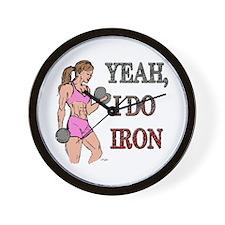 Fitness Godess Wall Clock