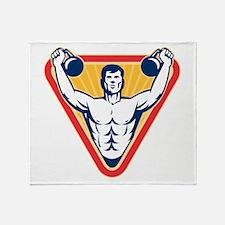 Kettlebell Exercise Weight Throw Blanket