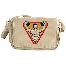Kettlebell Exercise Weight Messenger Bag