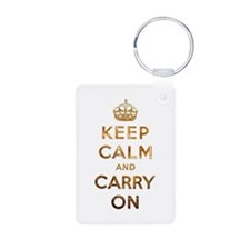 Keep Calm And Carry On Keychains