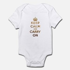 Keep Calm And Carry On Onesie