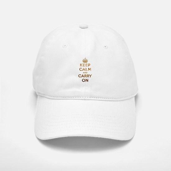 Keep Calm And Carry On Baseball Baseball Cap