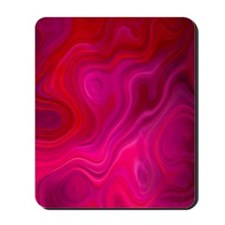 Brilliant Red Abstract Mousepad