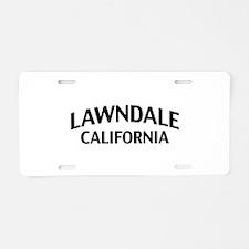 Lawndale California Aluminum License Plate