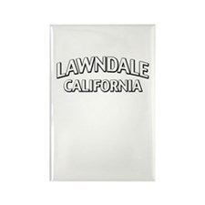 Lawndale California Rectangle Magnet