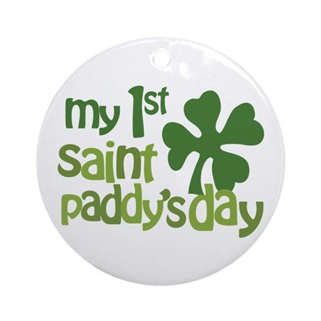 1st St. Patrick's Day Ornament (Round)