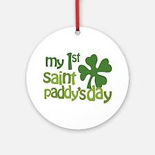 1st St. Patrick's Day Ornament (Round)