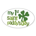 1st St. Patrick's Day Sticker (Oval 10 pk)