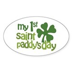 1st St. Patrick's Day Sticker (Oval)