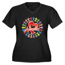 AIDS Unite in Awareness Women's Plus Size V-Neck D
