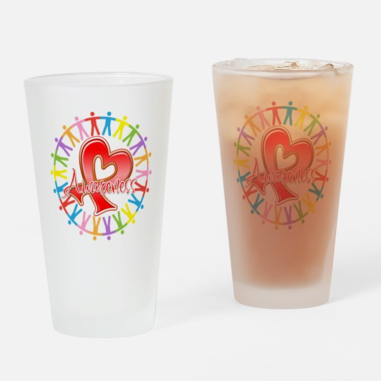 AIDS Unite in Awareness Drinking Glass
