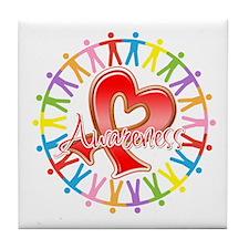 AIDS Unite in Awareness Tile Coaster