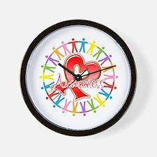 AIDS Unite in Awareness Wall Clock