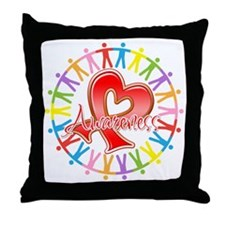 AIDS Unite in Awareness Throw Pillow