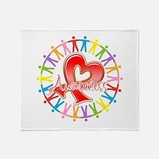 AIDS Unite in Awareness Throw Blanket