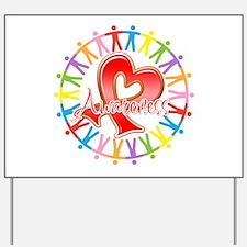 AIDS Unite in Awareness Yard Sign