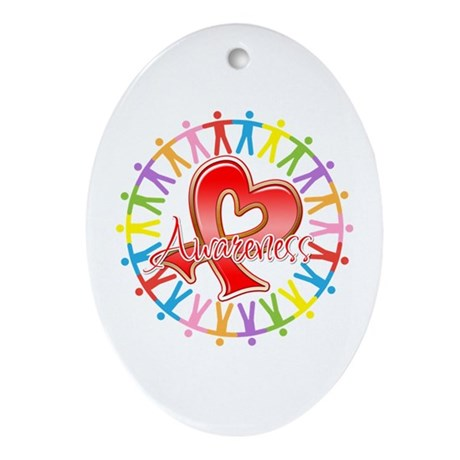 AIDS Unite in Awareness Ornament (Oval)