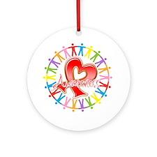 AIDS Unite in Awareness Ornament (Round)