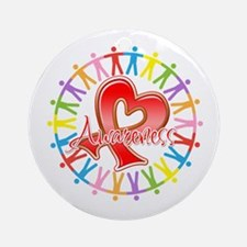 AIDS Unite in Awareness Ornament (Round)