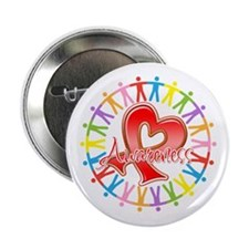 "AIDS Unite in Awareness 2.25"" Button (10 pack)"