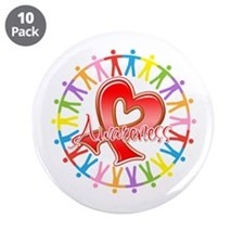 "AIDS Unite in Awareness 3.5"" Button (10 pack)"