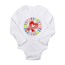 AIDS Unite in Awareness Long Sleeve Infant Bodysui