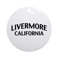 Livermore California Ornament (Round)