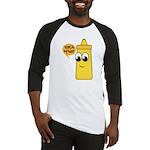 Funny Mustard Couples Baseball Jersey