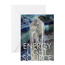 Artistic Crystal Energy Greeting Card