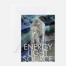 Artistic Crystal Energy Greeting Card
